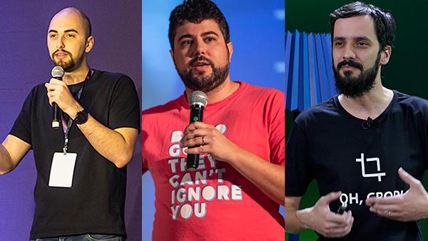 Alexandre Spengler, Sérgio Schüler e Raphael Farinazzo são instrutores na Product Crafters
